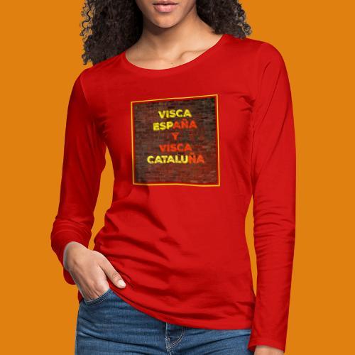 SPAIN AND CATALONIA - Women's Premium Longsleeve Shirt