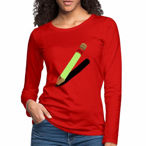 Ołówek - Koszulka damska Premium z długim rękawem