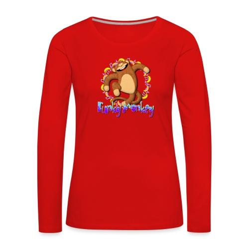 Funky Monkey - Maglietta Premium a manica lunga da donna