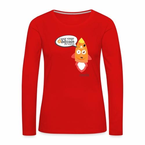 #BitcoinPizzaDay slice - Maglietta Premium a manica lunga da donna