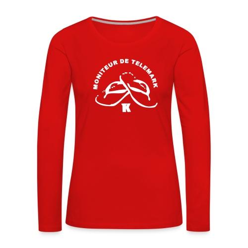 Moniteur Telemark - T-shirt manches longues Premium Femme