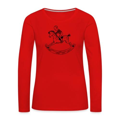 konik na biegunach - Koszulka damska Premium z długim rękawem