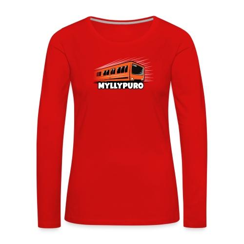 05 - METRO MYLLYPURO - HELSINKI - LAHJATUOTTEET - Naisten premium pitkähihainen t-paita