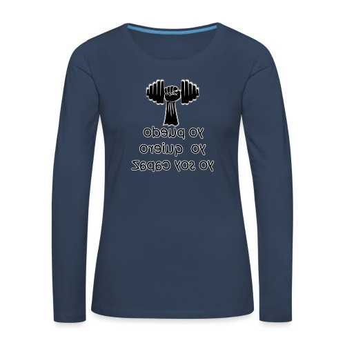 Para el Espejo: GYM - YO PUEDO - Camiseta de manga larga premium mujer