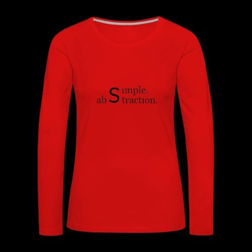 simple. abstraction. logo - Frauen Premium Langarmshirt