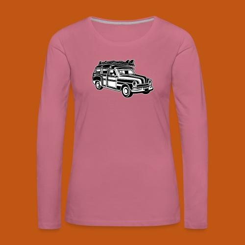 Chevy Cadilac Woodie / Oldtimer Kombi 01_sw - Frauen Premium Langarmshirt