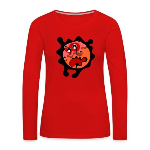 scary cartoon - Vrouwen Premium shirt met lange mouwen
