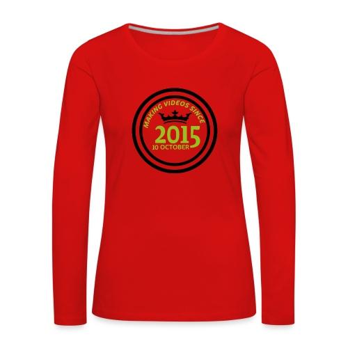 2015-10-10 - Långärmad premium-T-shirt dam