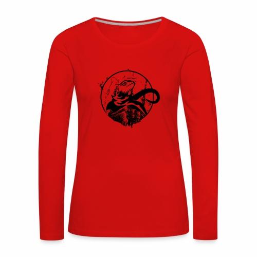 Bearded Dragon - Frauen Premium Langarmshirt