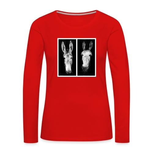 Eselköpfe-Esel - Frauen Premium Langarmshirt