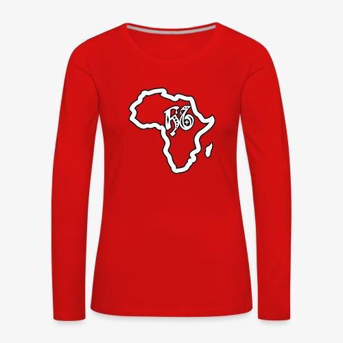 afrika pictogram - Vrouwen Premium shirt met lange mouwen