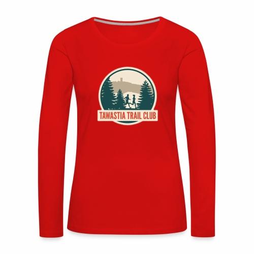 TawastiaTrailClub - Naisten premium pitkähihainen t-paita