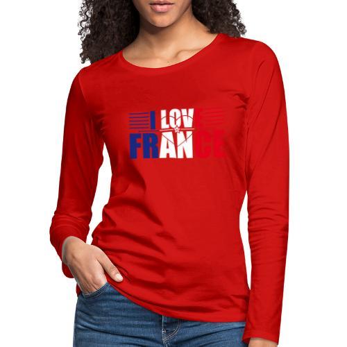 love france - T-shirt manches longues Premium Femme