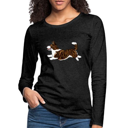Welshcorgi7 - Naisten premium pitkähihainen t-paita