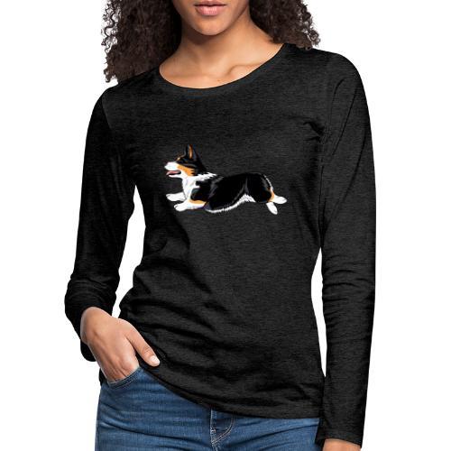 Welshcorgi2 - Naisten premium pitkähihainen t-paita
