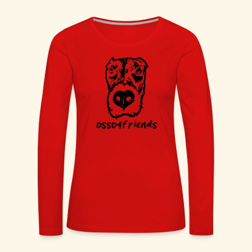 Logo NERO TRASPARENTE creative - Maglietta Premium a manica lunga da donna