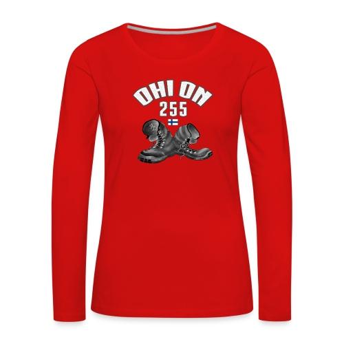 01-04 OHI ON 255 - SUOMEN ARMEIJA - LAHJATUOTTEET - Naisten premium pitkähihainen t-paita