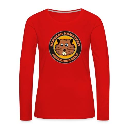 Herukan Hamsterit - Naisten premium pitkähihainen t-paita