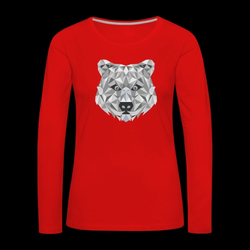 Bear-ish - Koszulka damska Premium z długim rękawem
