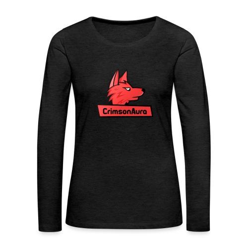 CrimsonAura Logo Merchandise - Women's Premium Longsleeve Shirt
