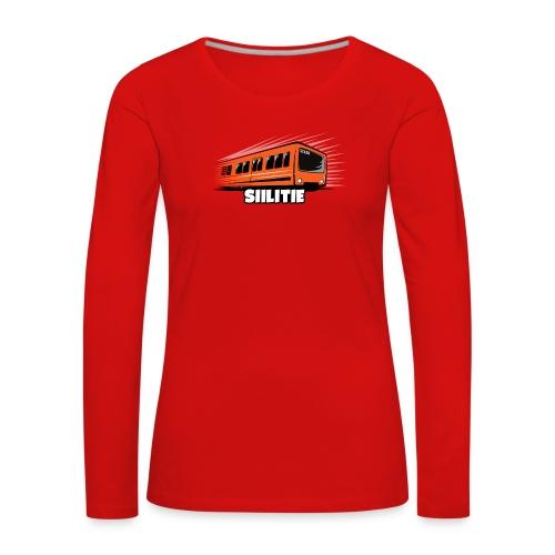 08 - METRO SIILITIE - HELSINKI - LAHJATUOTTEET - Naisten premium pitkähihainen t-paita