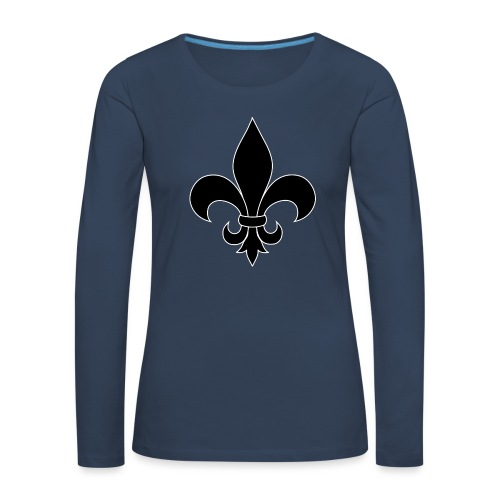 ranskan lilja - Naisten premium pitkähihainen t-paita