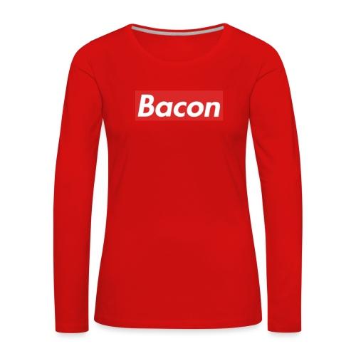 Bacon - Långärmad premium-T-shirt dam