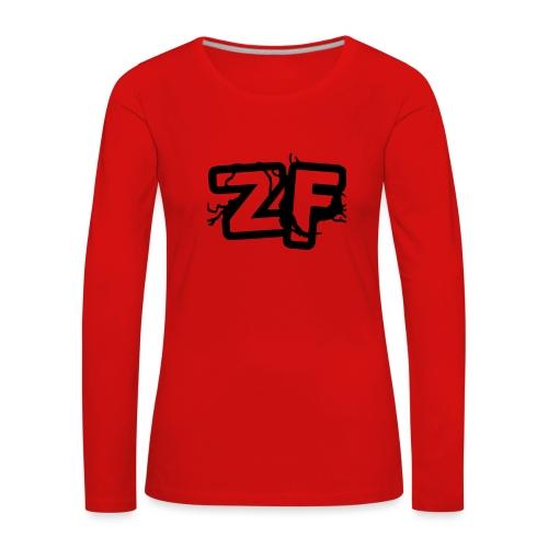 Zckrfrk BLACK Edition - Frauen Premium Langarmshirt