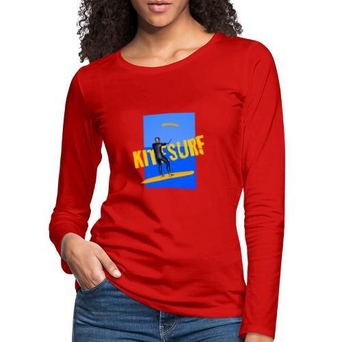 KITESURF HOMME - T-shirt manches longues Premium Femme