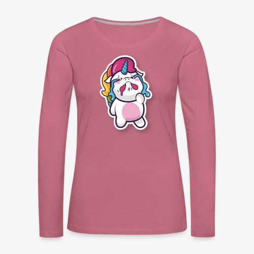 Funny Unicorn - Women's Premium Longsleeve Shirt
