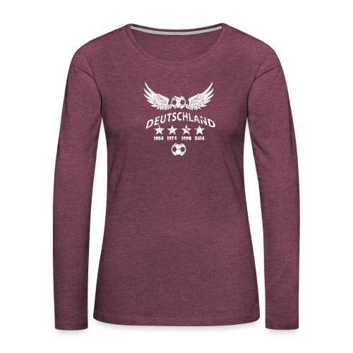 Germany football 2018 - Frauen Premium Langarmshirt