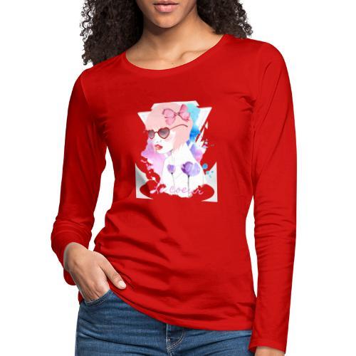 Le coeur - T-shirt manches longues Premium Femme