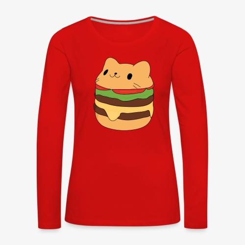cat burger - Women's Premium Longsleeve Shirt