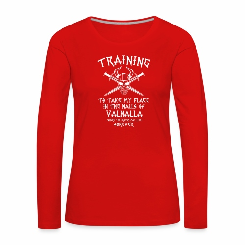 training for Valhalla - Camiseta de manga larga premium mujer