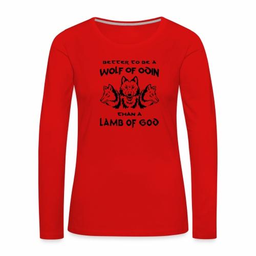 Wolf of Odin - Camiseta de manga larga premium mujer