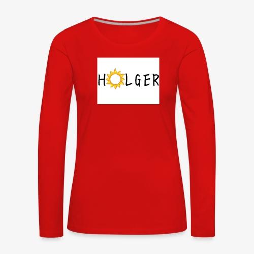 Holger Sommer edition kap - Dame premium T-shirt med lange ærmer