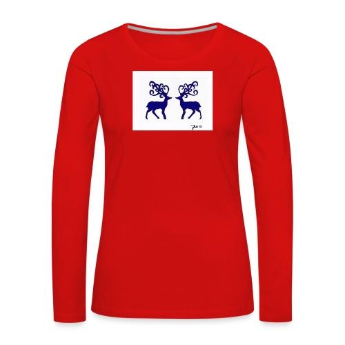 nordicmotif1_blue - Women's Premium Longsleeve Shirt