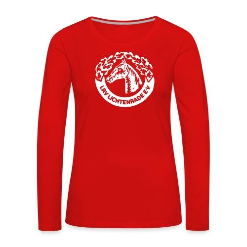 horse_logo_white_big - Frauen Premium Langarmshirt