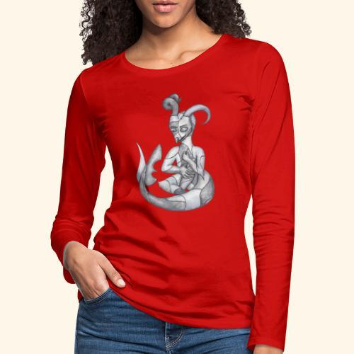 Frankensteins drake - Långärmad premium-T-shirt dam