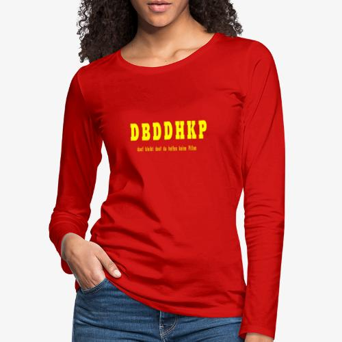 Doof yellow - Frauen Premium Langarmshirt