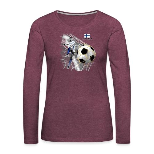 GP22F-05 FINLAND FOOTBALL PRODUCTS - Tuotteet - Naisten premium pitkähihainen t-paita