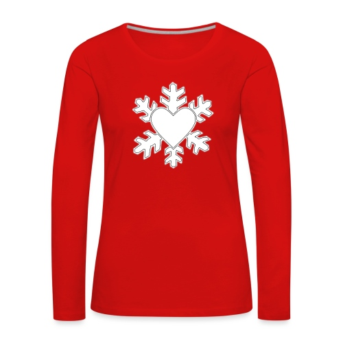 Flocon coeur 3D - T-shirt manches longues Premium Femme