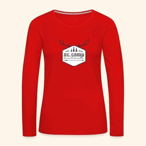 ac camp - Maglietta Premium a manica lunga da donna