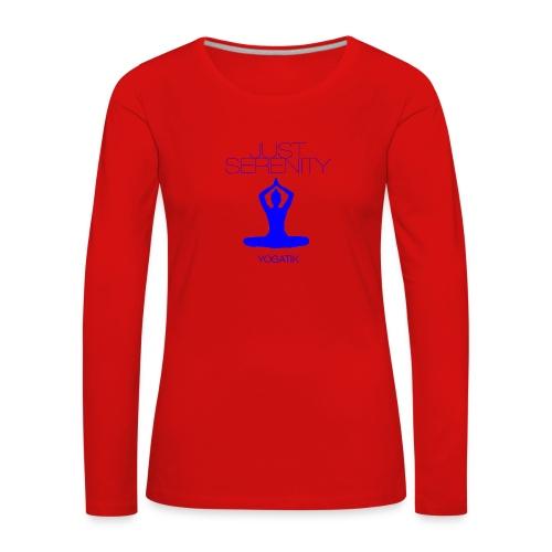 yogatyk blue - T-shirt manches longues Premium Femme