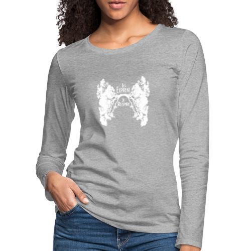 Oxygène blanc - T-shirt manches longues Premium Femme