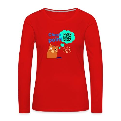 Duna Checkpoint - Premium langermet T-skjorte for kvinner