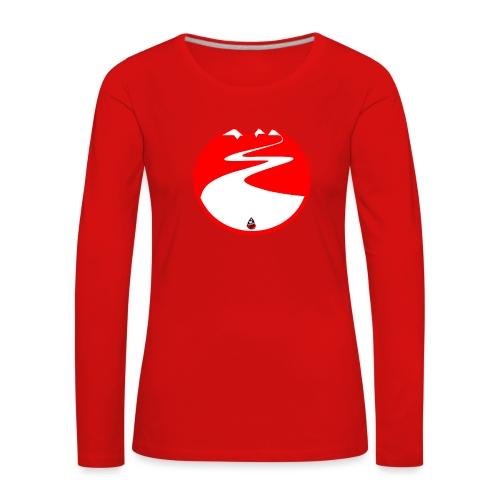 Montagne rouge - T-shirt manches longues Premium Femme