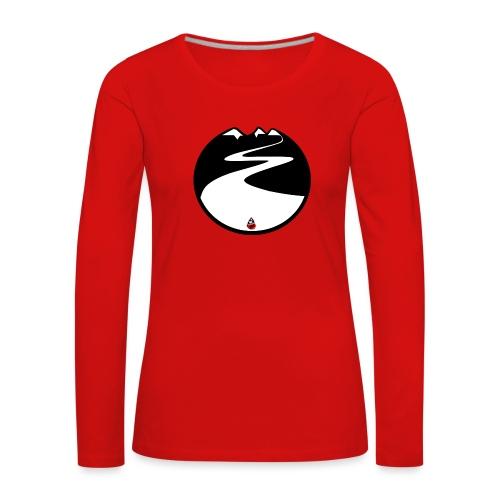 Montagne noire - T-shirt manches longues Premium Femme