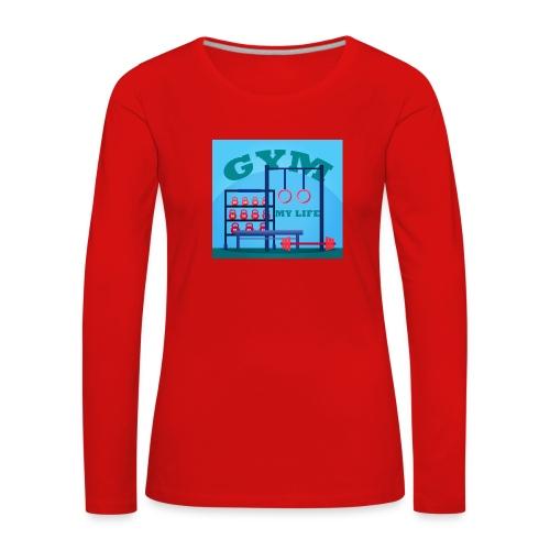 GYM - Naisten premium pitkähihainen t-paita