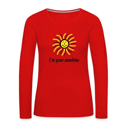 2i m youre sunshine Gelb Top - Frauen Premium Langarmshirt